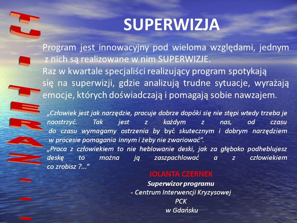 SUPERWIZJA Program jest innowacyjny pod wieloma względami, jednym z nich są realizowane w nim SUPERWIZJE. Raz w kwartale specjaliści realizujący progr