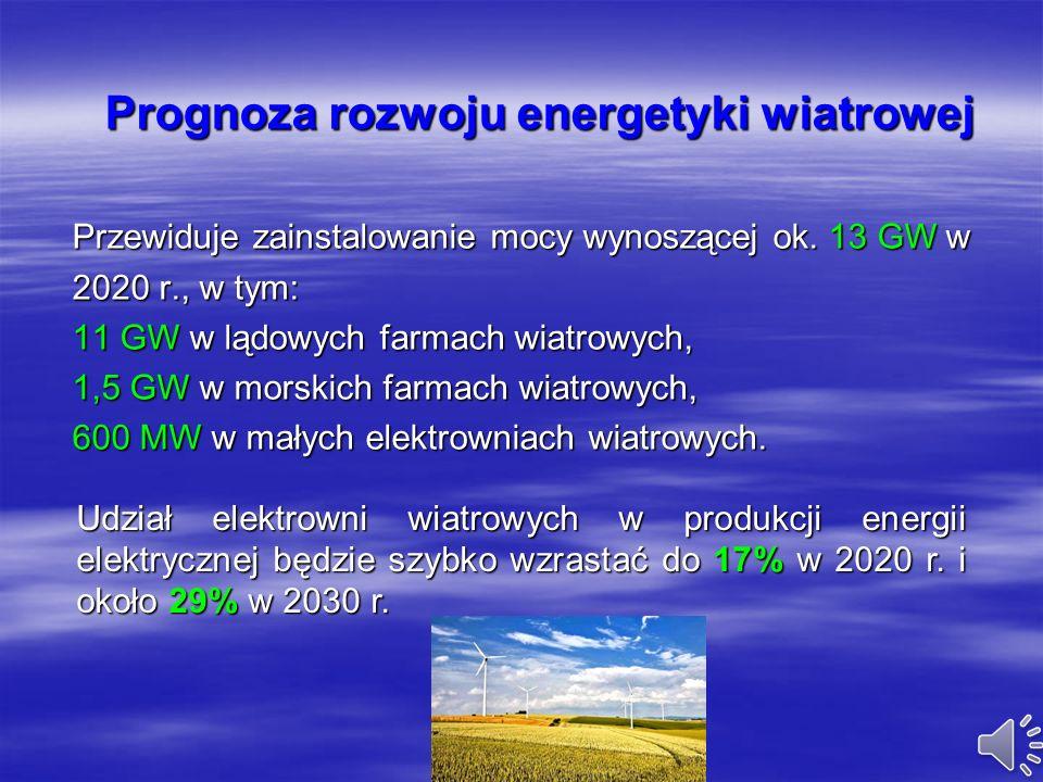 Perspektywy rozwoju energetyki wiatrowej w Polsce Na zlecenie Polskiego Stowarzyszenia Energetyki Wiatrowej (PSEW) przygotowany został raport: Wizja r