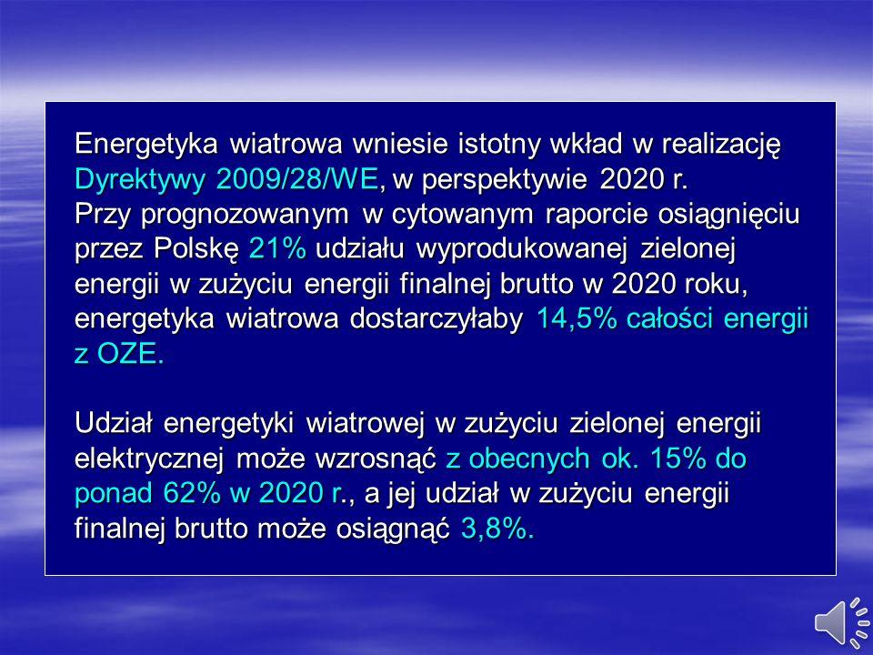 Energetyka wiatrowa to jedna z najtańszych opcji technologicznych redukcji emisji CO2. Zgodnie z opracowanym scenariuszem, redukcja emisji CO2 do atmo