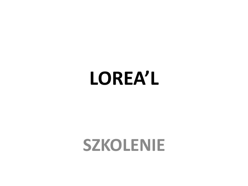 LOREAL SZKOLENIE