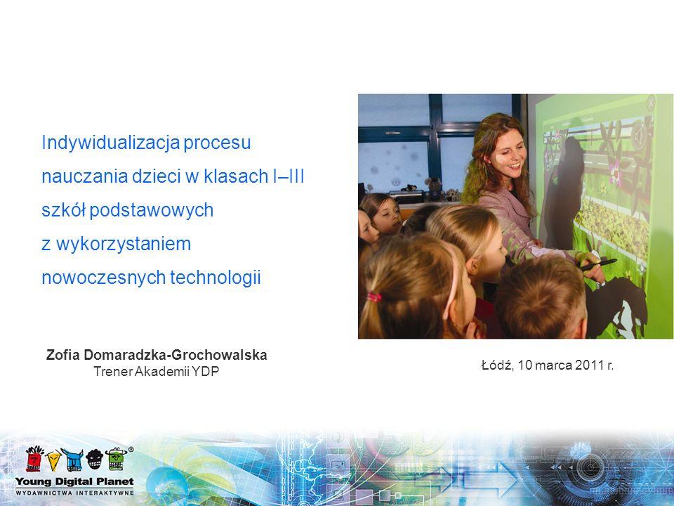 Plan prezentacji Informacje ogólne o projekcie systemowym – Indywidualizacja procesu nauczania i wychowania uczniów klas I–III szkół podstawowych Nowoczesne technologie w świetle Nowej Podstawy Programowej Kształcenia Ogólnego Standardy projektu rządowego Rozwiązania YDP wspierające proces Indywidualizacji 1234