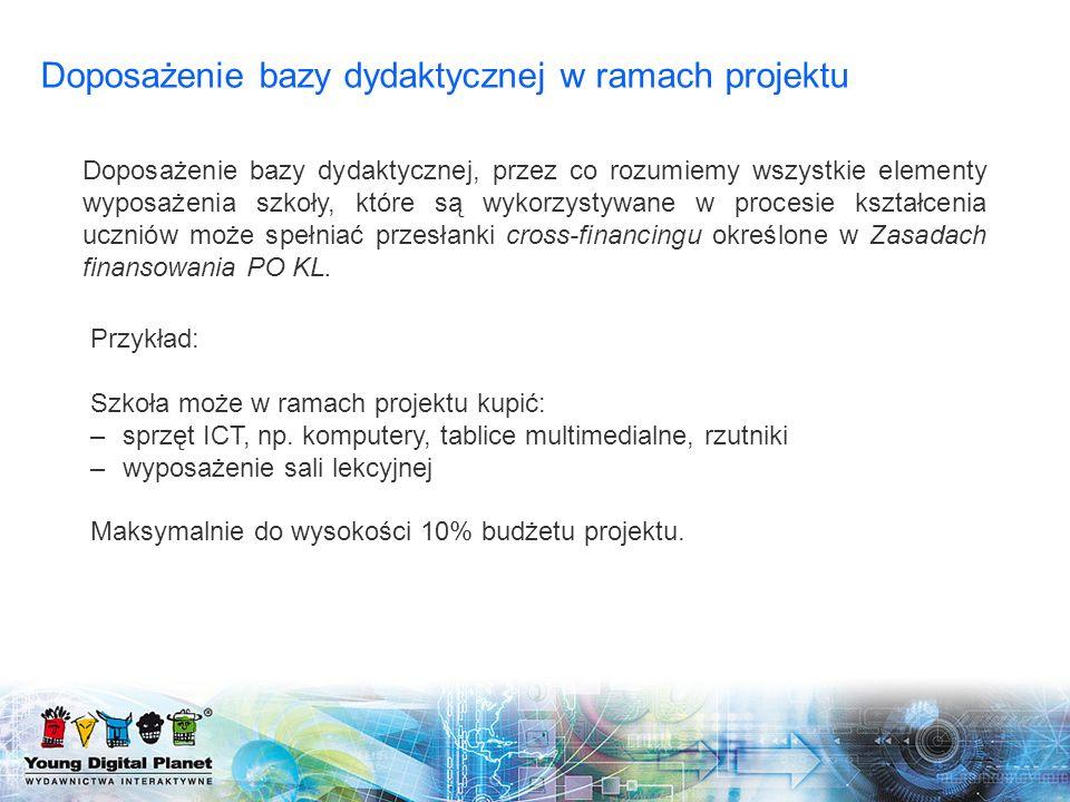 Dodatkowe informacje związane z projektem 12 Czy oprogramowanie można zakupić w ramach kosztów ogółem.