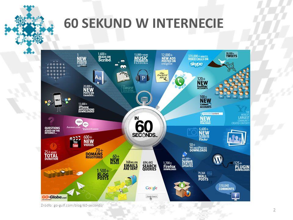 60 SEKUND W INTERNECIE Źródło: go-gulf.com/blog/60-seconds/ 2