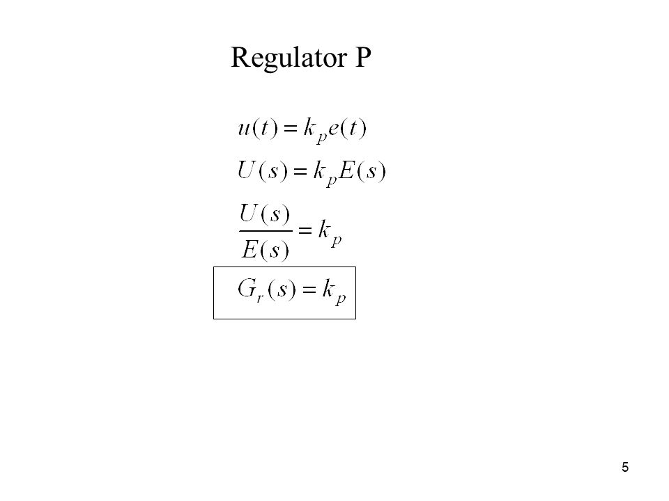 5 Regulator P