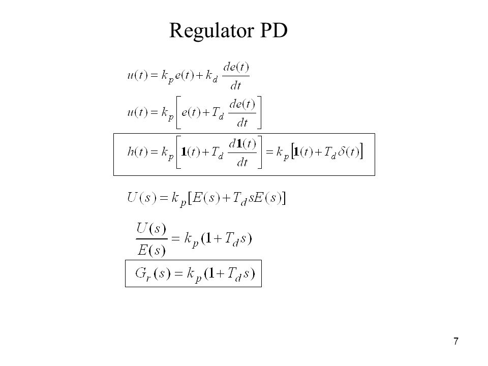 7 Regulator PD