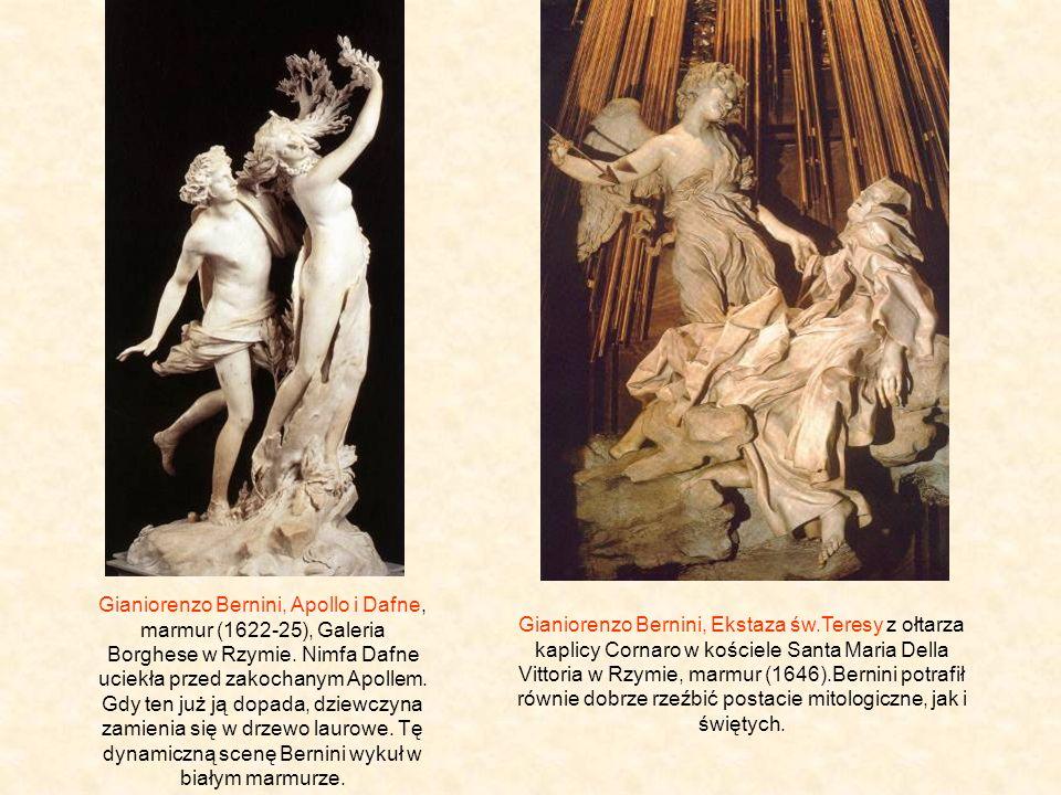 Gianiorenzo Bernini, Apollo i Dafne, marmur (1622-25), Galeria Borghese w Rzymie.