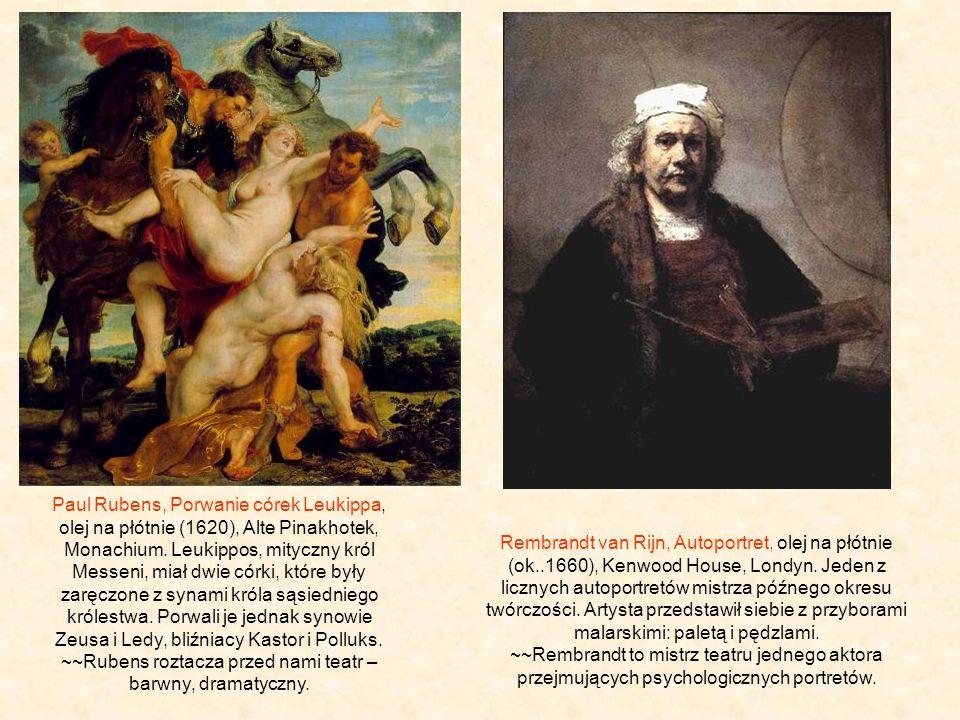 Paul Rubens, Porwanie córek Leukippa, olej na płótnie (1620), Alte Pinakhotek, Monachium.