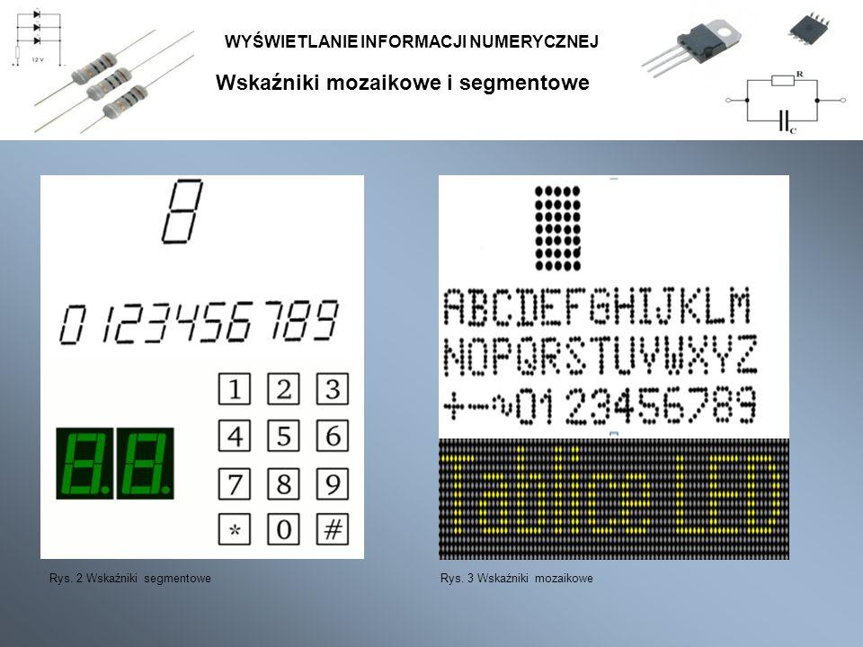 Transkodery kodu BCD na kod 7-segmentowego wskaźnika WYŚWIETLANIE INFORMACJI NUMERYCZNEJ Najbardziej popularnym kodem dziesiętnym jest kod o wagach 8421.