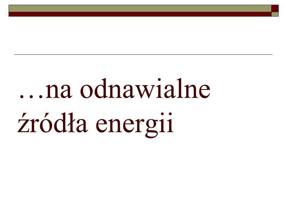 …na odnawialne źródła energii