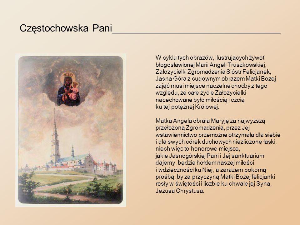 Kalisz - miejsce urodzenia Matki Angeli________________ Podobnie jak Częstochowa jest centrum kultu maryjnego w Polsce, tak Kalisz – najstarsze miasto polskie liczące z górą osiemnaście wieków istnienia – jest centralnym ogniskiem religijnego kultu świętego Józefa.