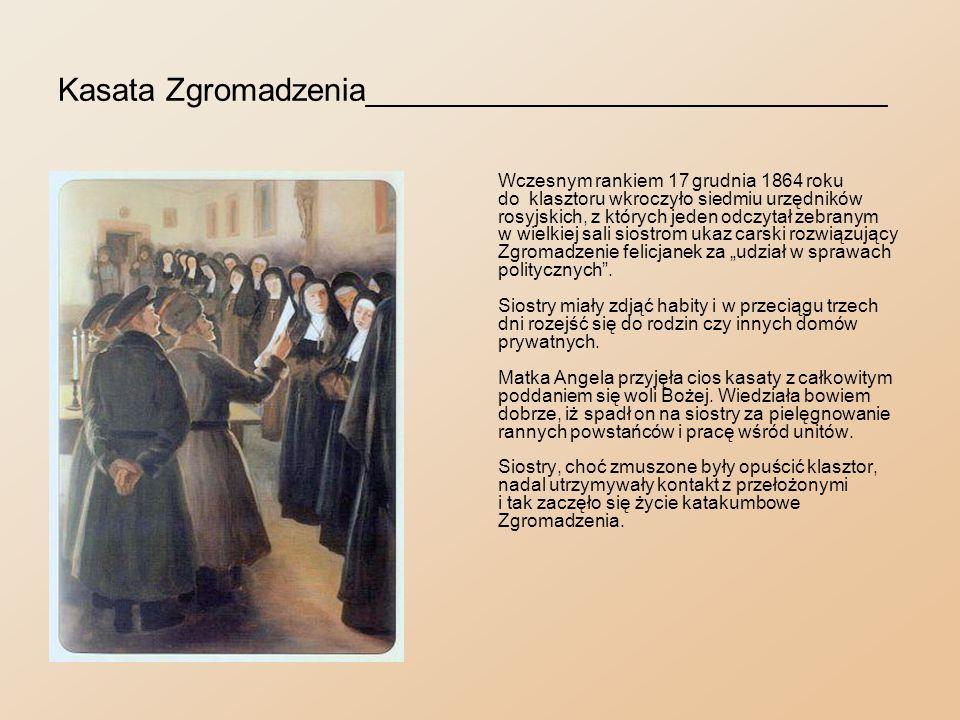 Wywiezienie sióstr klauzurowych_____________________ Siostry klauzurowe - jako nie biorące udziału w powstaniu - zostały pod konwojem przewiezione do klasztoru Panien Bernardynek w Łowiczu.