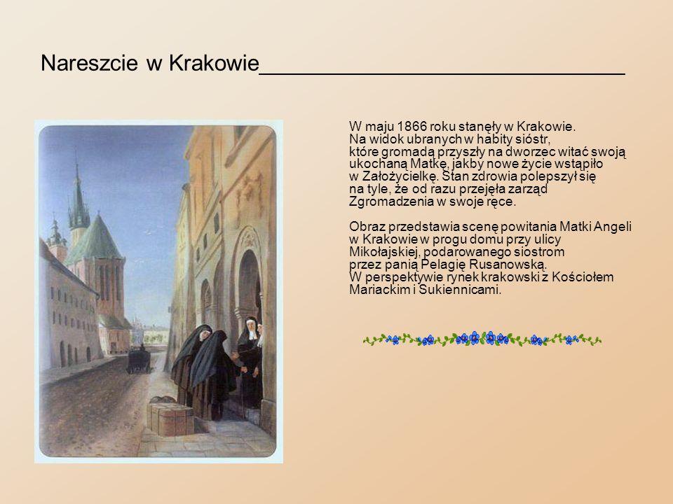 Na kuracji w Krzeszowicach_________________________ Wiele nowych wrażeń do czasu tylko trzymało Matkę Angelę na posterunku.
