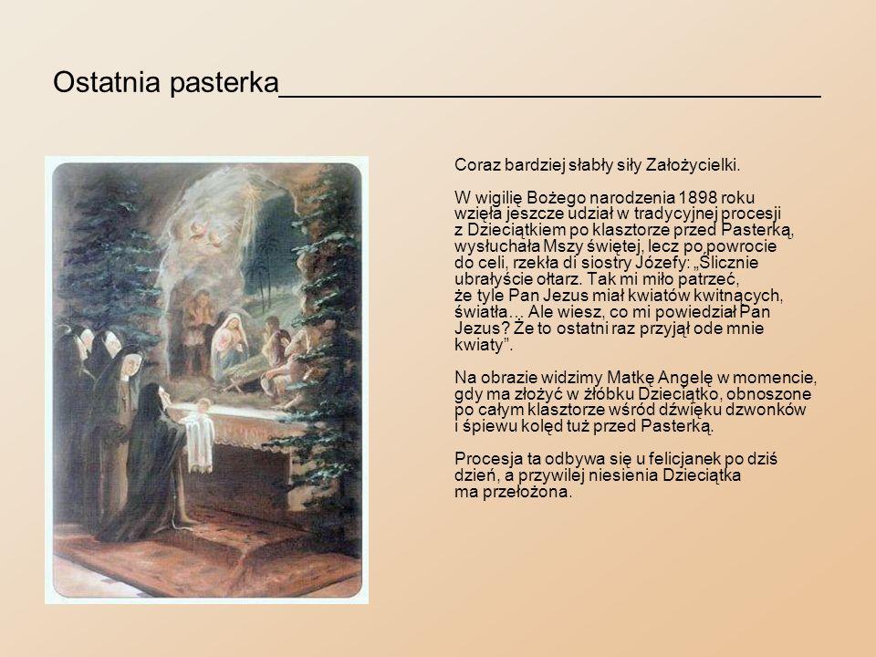 Ustawy_________________________________________ Na dwa miesiące przed śmiercią kardynał Jan Puzyna przyniósł ciężko chorej Założycielce księgę ustaw Zgromadzenia z pieczęcią Stolicy Świętej.