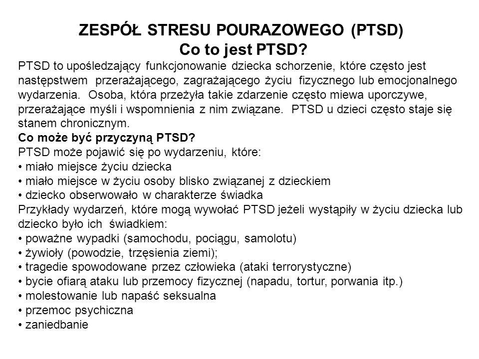 Jakie są symptomy PTSD.