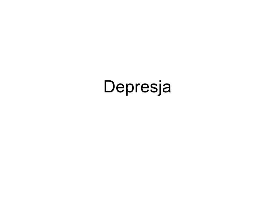 Podział depresji ze względu na wiek: Depresja u niemowląt (anaklityczna), Depresja u dzieci, Depresja u młodzieży.