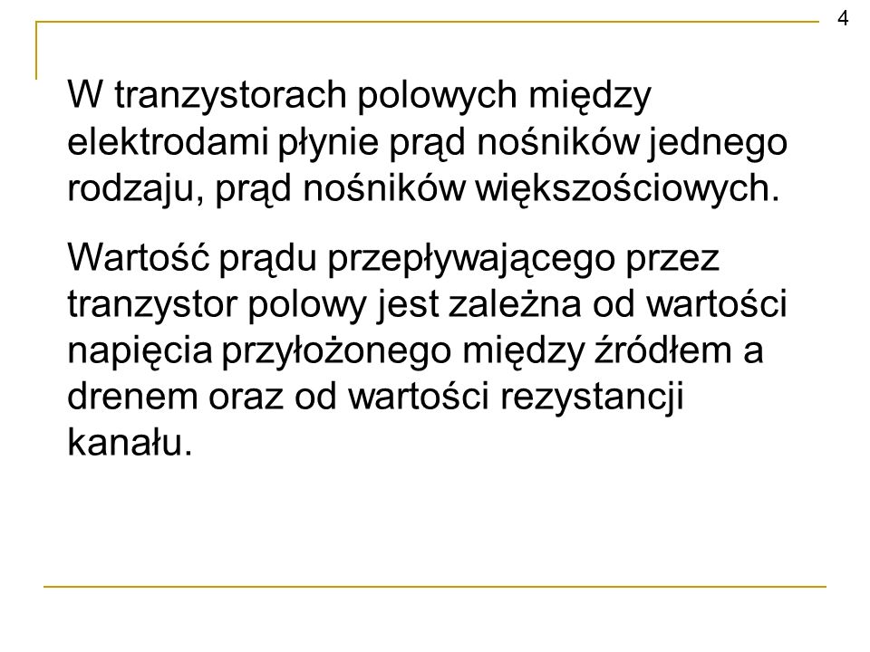 Tranzystory polowe złączowe – JFET (ang.