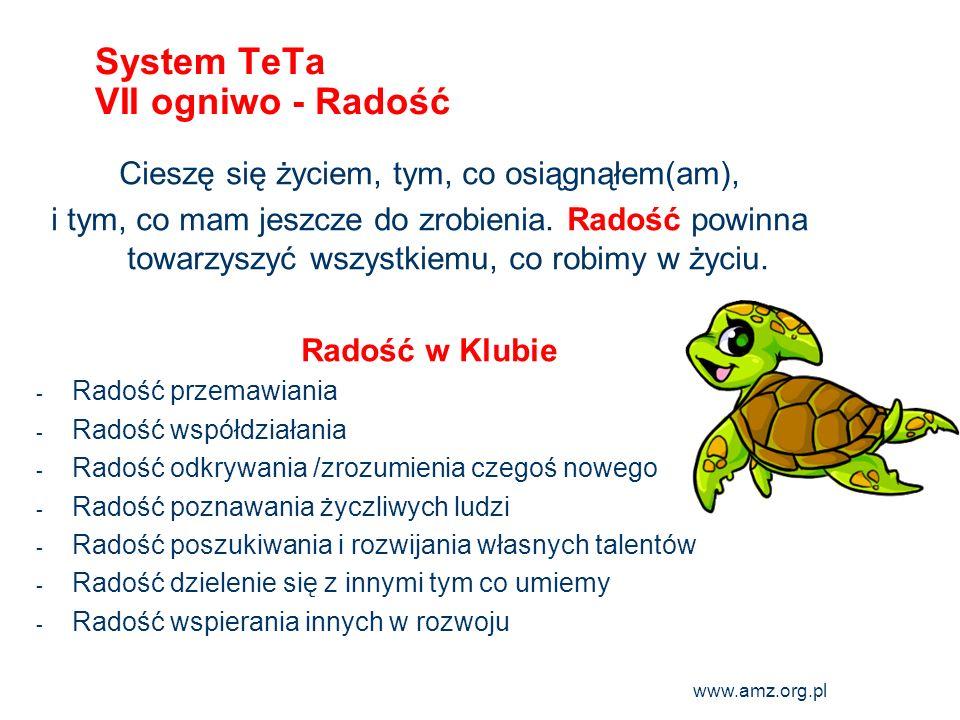 www.amz.org.pl 11 System TeTa VII ogniwo - Radość Cieszę się życiem, tym, co osiągnąłem(am), i tym, co mam jeszcze do zrobienia. Radość powinna towarz