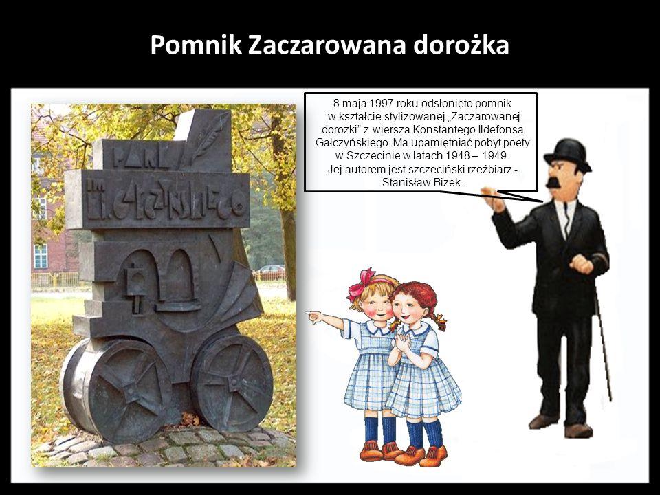 Pomnik Maciusia I Pomnik przedstawia literackiego bohatera - króla Maciusia I. Autorem projektu i zarazem jego wykonawcą był szczeciński rzeźbiarz i p