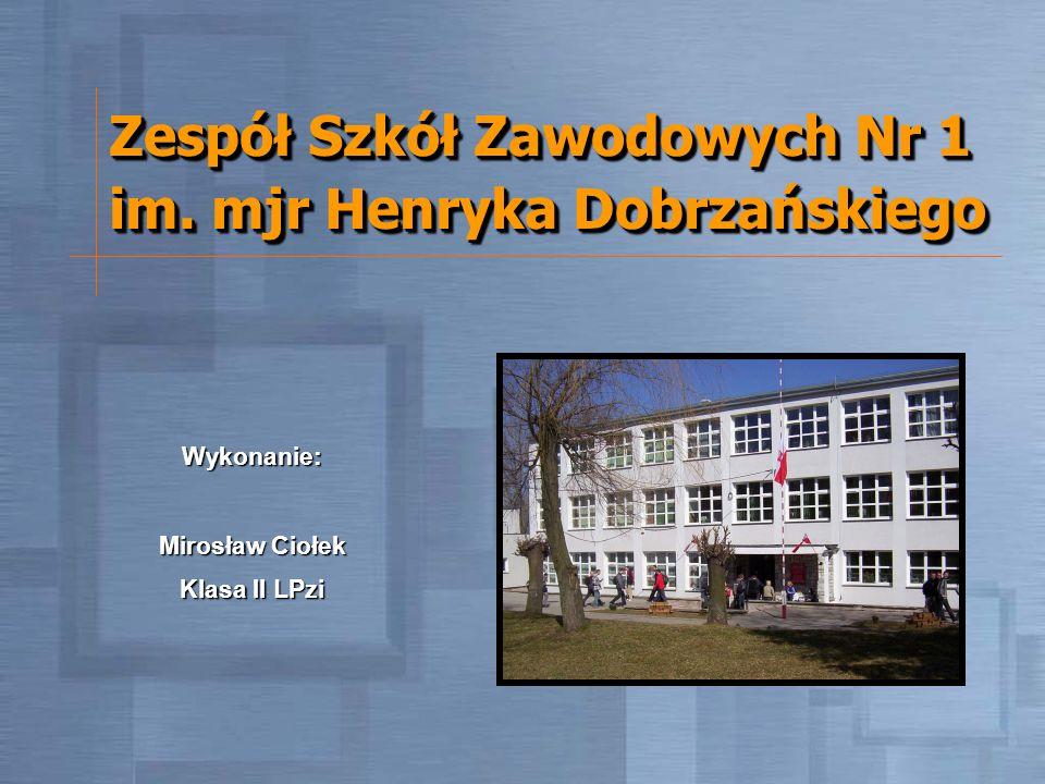 Zespół Szkół Zawodowych Nr 1 im. mjr Henryka Dobrzańskiego Wykonanie: Mirosław Ciołek Klasa II LPzi