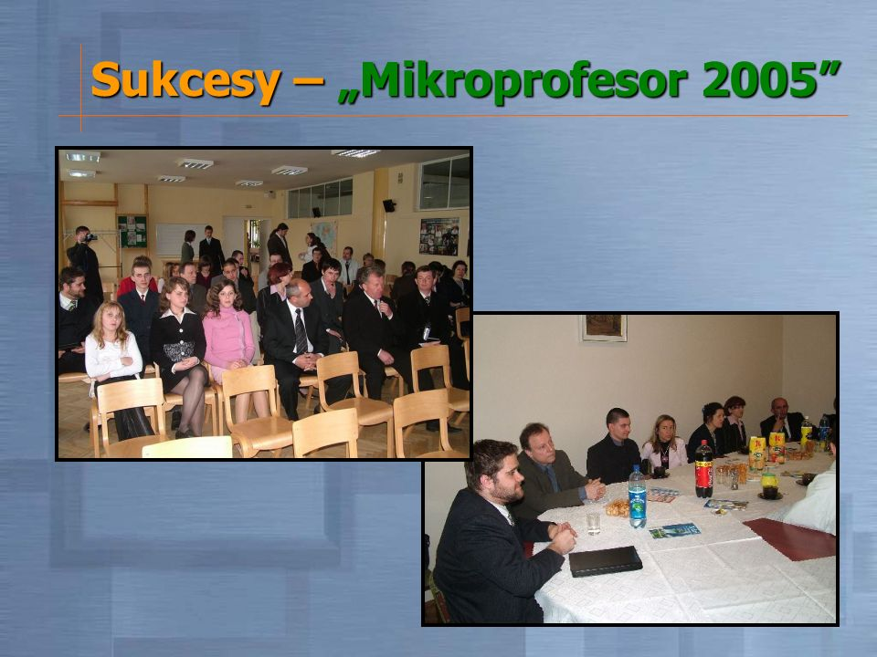 Sukcesy – Mikroprofesor 2005