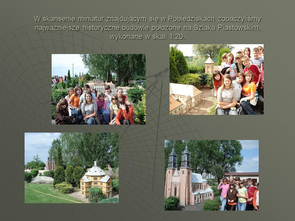 W skansenie miniatur znajdującym się w Pobiedziskach zobaczyliśmy najważniejsze historyczne budowle położone na Szlaku Piastowskim, wykonane w skali 1