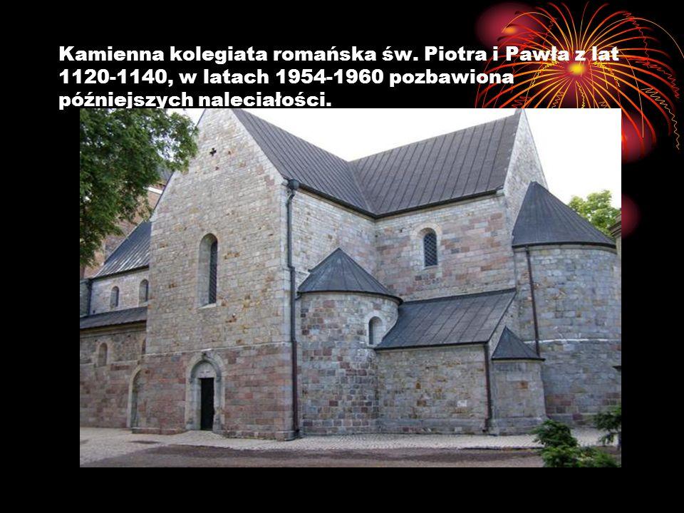 Kamienna kolegiata romańska św. Piotra i Pawła z lat 1120-1140, w latach 1954-1960 pozbawiona późniejszych naleciałości.