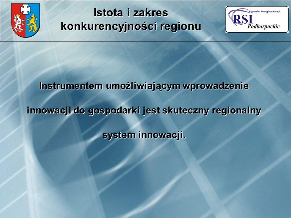 Instrumentem umożliwiającym wprowadzenie innowacji do gospodarki jest skuteczny regionalny system innowacji.