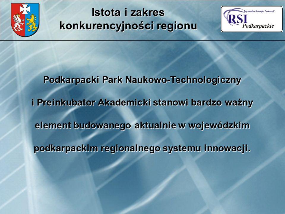 Podkarpacki Park Naukowo-Technologiczny i Preinkubator Akademicki stanowi bardzo ważny element budowanego aktualnie w wojewódzkim podkarpackim regionalnego systemu innowacji.