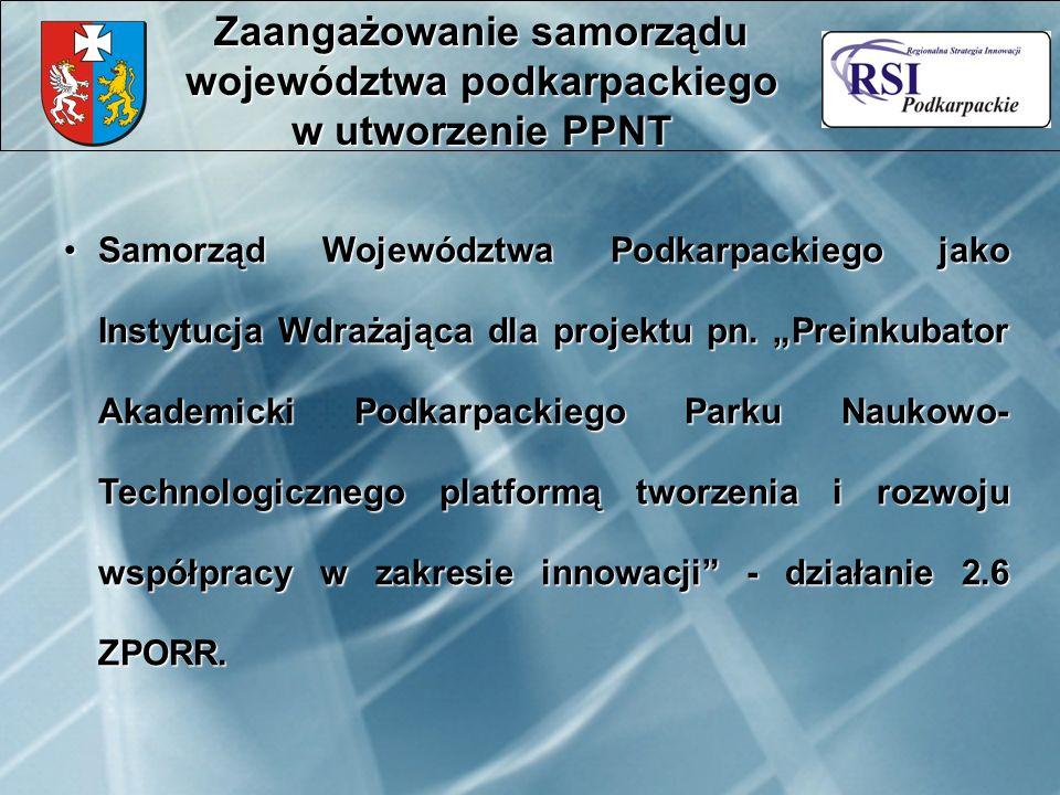 Samorząd Województwa Podkarpackiego jako Instytucja Wdrażająca dla projektu pn.