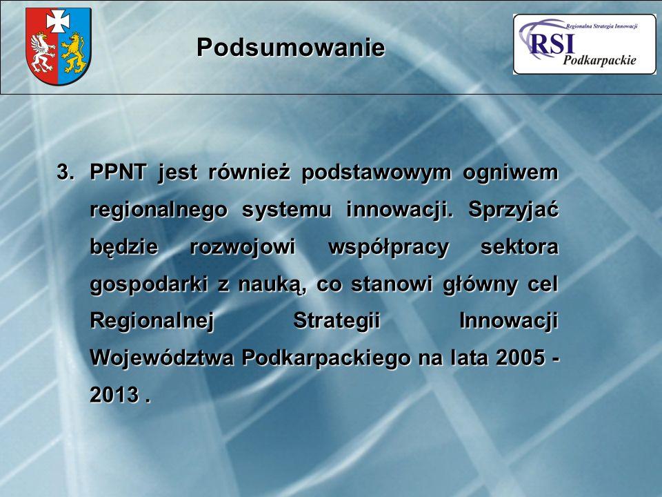 3.PPNT jest również podstawowym ogniwem regionalnego systemu innowacji.