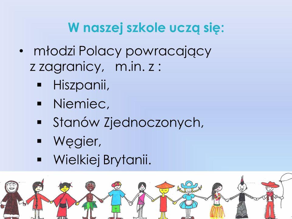 wsparcia w pokonaniu bariery językowej, pomocy w wyrównaniu różnic programowych, wskazówek dotyczących zasad organizacji pracy szkoły.