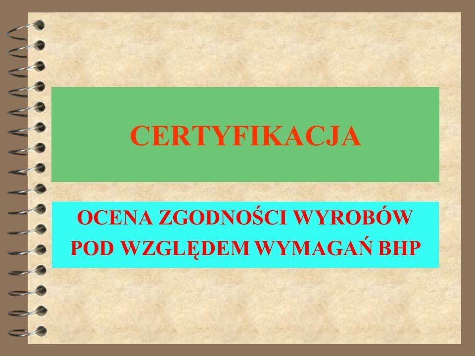 Ustawa z dnia 29 sierpnia 2003 r. o zmianie ustawy o systemie oceny zgodności oraz zmianie niektórych ustaw System kontroli wyrobów wprowadzanych do o