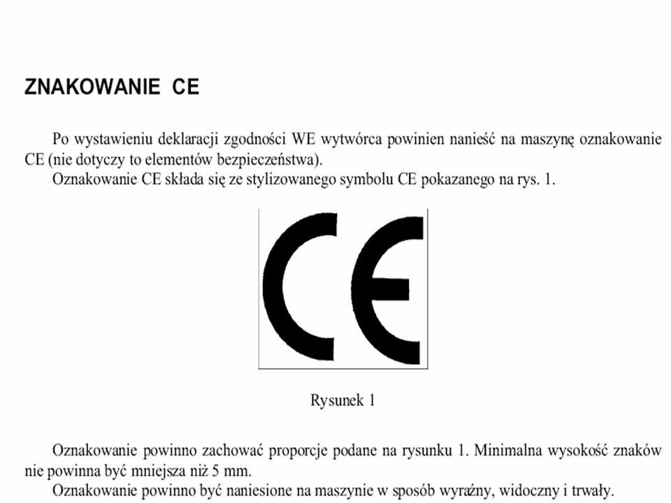 Znak CE jest deklaracją osoby odpowiedzialnej, że: wyrób pozostaje zgodny z odpowiednimi przepisami UE, dopełniono właściwej procedury oceny zgodności