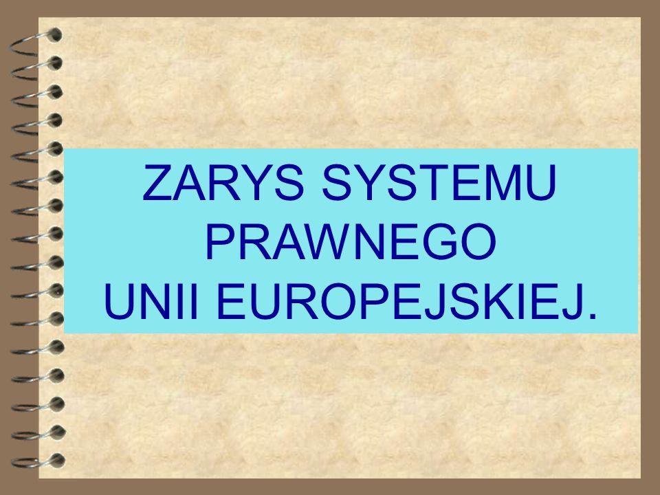 1. Zarys systemu prawnego Unii Europejskiej. 2. Traktat Rzymski - dyrektywy ekonomiczne i społeczne. 3. Dyrektywy Nowego Podejścia. 4. Dyrektywa Maszy