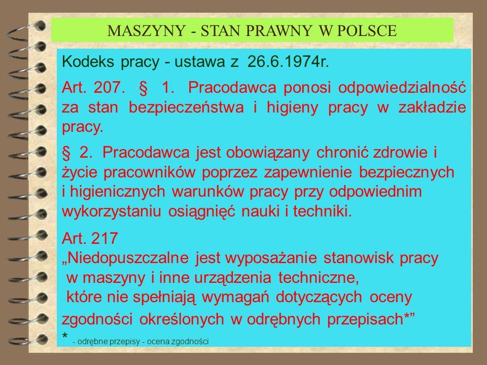 MASZYNY STAN PRAWNY W POLSCE