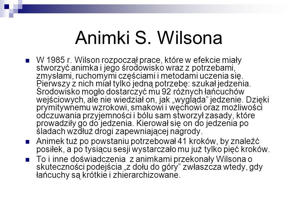 Animki S. Wilsona W 1985 r. Wilson rozpoczął prace, które w efekcie miały stworzyć animka i jego środowisko wraz z potrzebami, zmysłami, ruchomymi czę