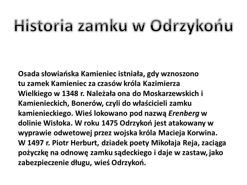 Osada słowiańska Kamieniec istniała, gdy wznoszono tu zamek Kamieniec za czasów króla Kazimierza Wielkiego w 1348 r. Należała ona do Moskarzewskich i