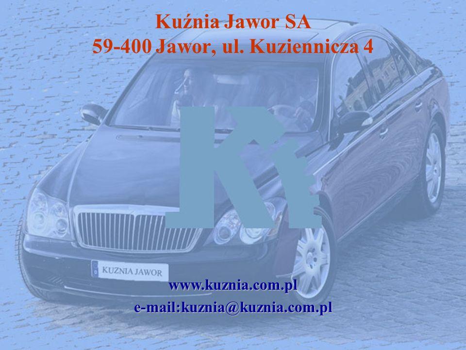 Kuźnia Jawor SA 59-400 Jawor, ul. Kuziennicza 4www.kuznia.com.ple-mail:kuznia@kuznia.com.pl