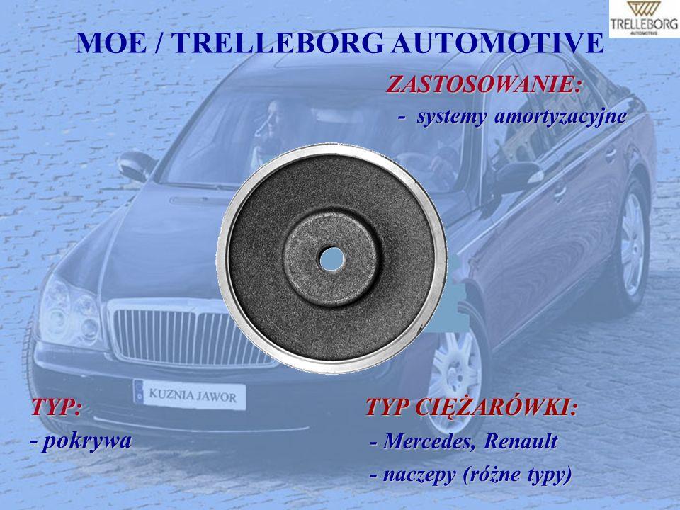 MOE / TRELLEBORG AUTOMOTIVEZASTOSOWANIE: - systemy amortyzacyjne - systemy amortyzacyjne TYP: - pokrywa TYP CIĘŻARÓWKI: - Mercedes, Renault - Mercedes