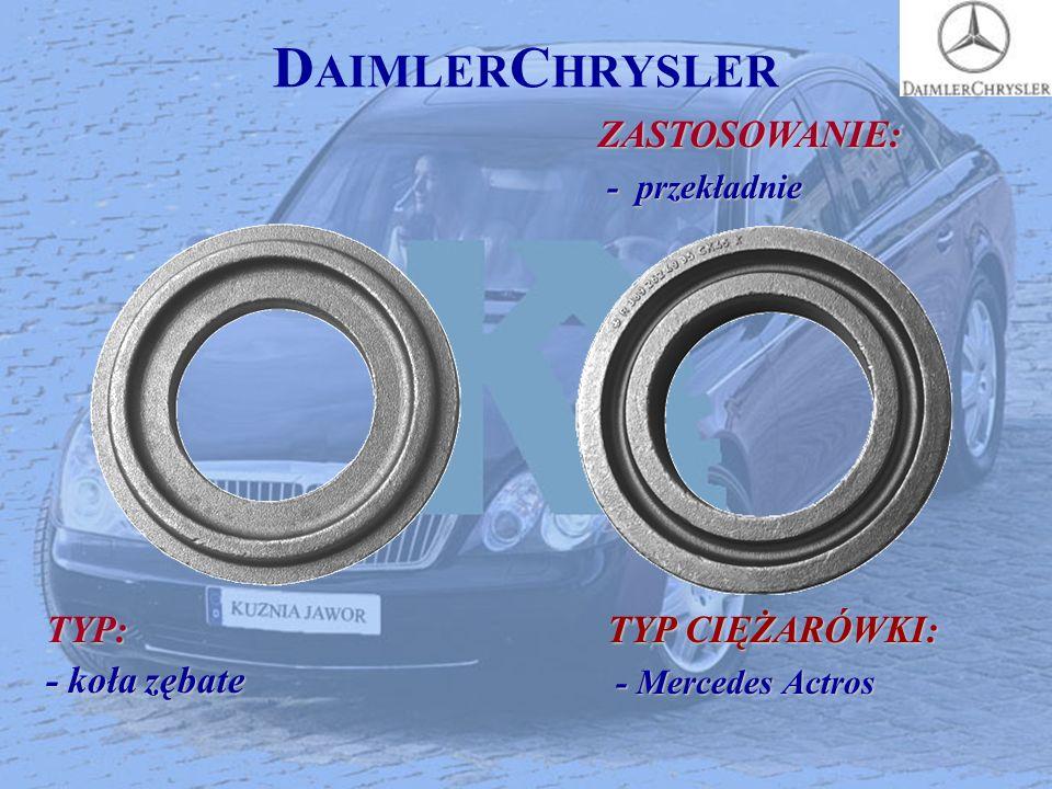 D AIMLER C HRYSLERZASTOSOWANIE: - przekładnie - przekładnie TYP: - koła zębate TYP CIĘŻARÓWKI: - Mercedes Actros - Mercedes Actros