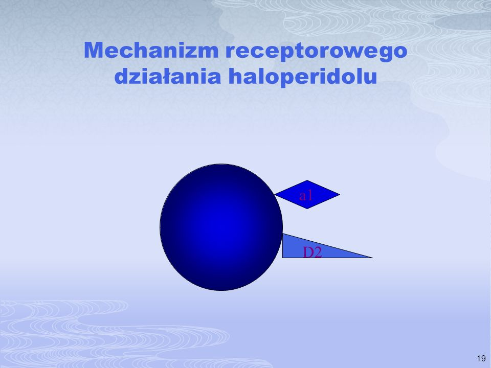 19 Mechanizm receptorowego działania haloperidolu D2 a1