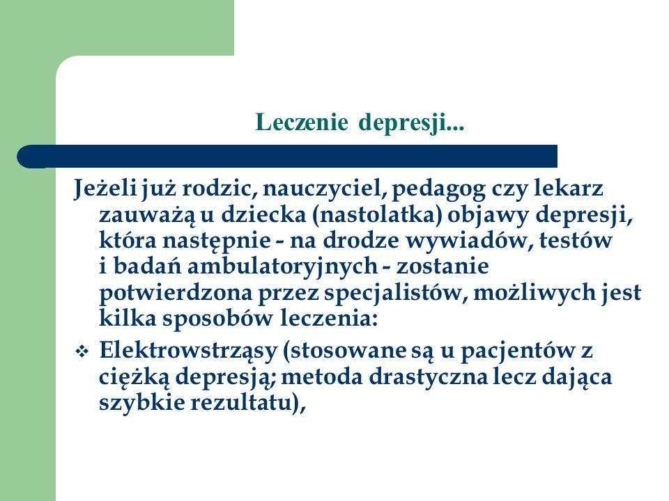 Leczenie depresji...