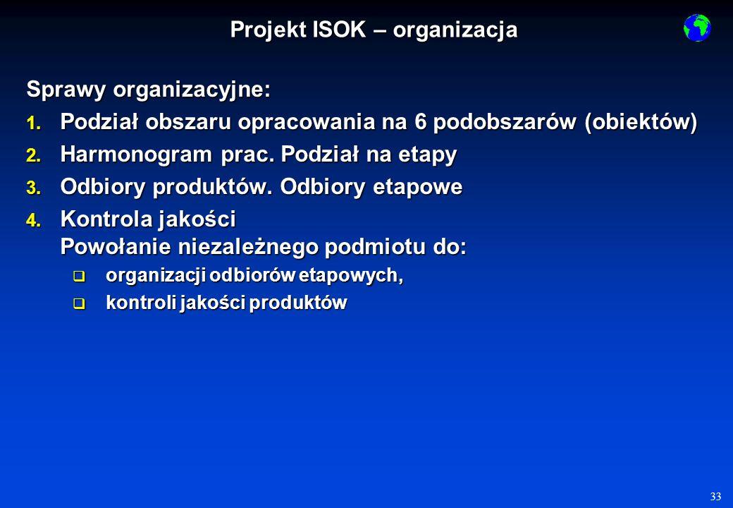 33 Sprawy organizacyjne: 1.Podział obszaru opracowania na 6 podobszarów (obiektów) 2.