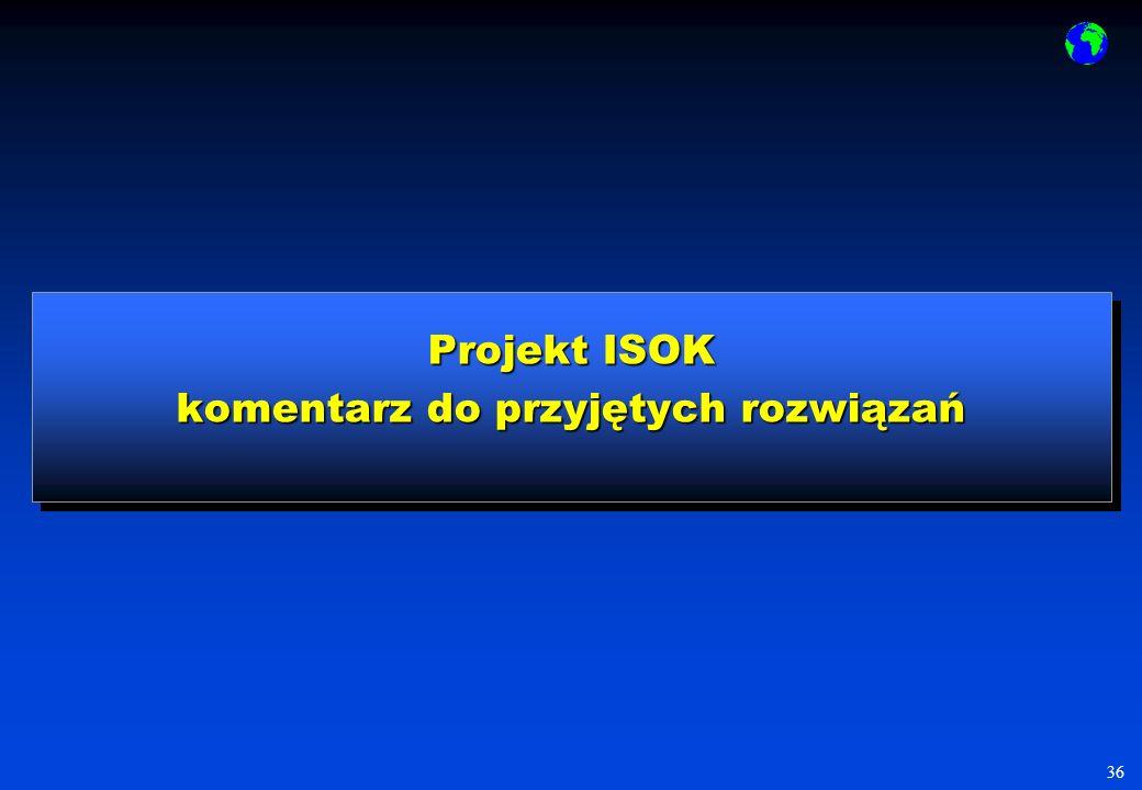 36 Projekt ISOK komentarz do przyjętych rozwiązań