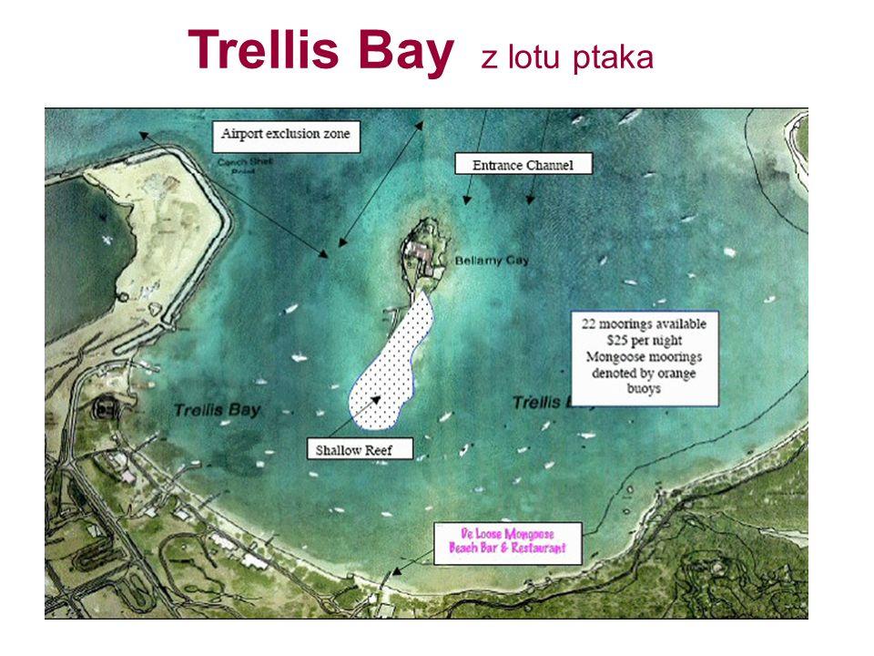 Trellis Bay z lotu ptaka