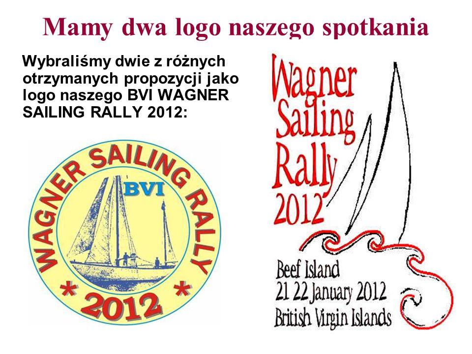 Mamy dwa logo naszego spotkania Wybraliśmy dwie z różnych otrzymanych propozycji jako logo naszego BVI WAGNER SAILING RALLY 2012:
