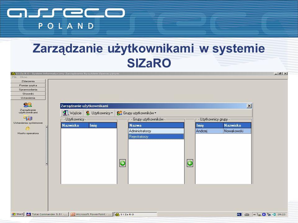 Zarządzanie użytkownikami w systemie SIZaRO
