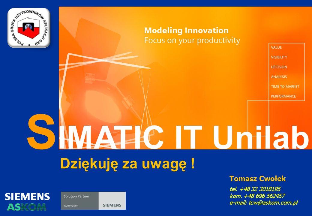S IMATIC IT Unilab Tomasz Cwołek tel.+48 32 3018195 kom.