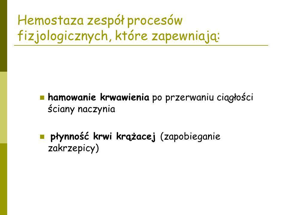 Synteza w hepatocytach.Czynniki V i VIII są najbardziej labilnymi cz.