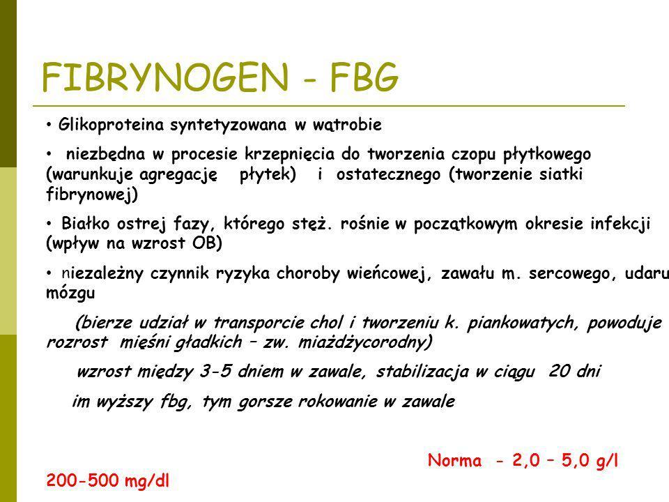 Glikoproteina syntetyzowana w wątrobie niezbędna w procesie krzepnięcia do tworzenia czopu płytkowego (warunkuje agregację płytek) i ostatecznego (two